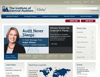 global.theiia.org screenshot