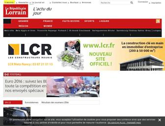 Main page screenshot of republicain-lorrain.fr
