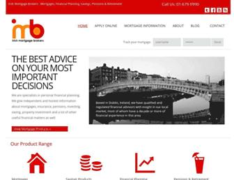 Main page screenshot of mortgagebrokers.ie