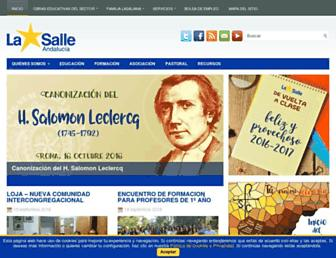 lasalleandalucia.net screenshot