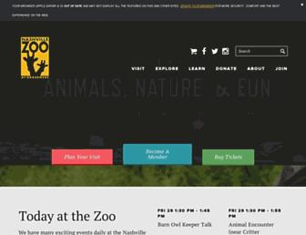 nashvillezoo.org screenshot