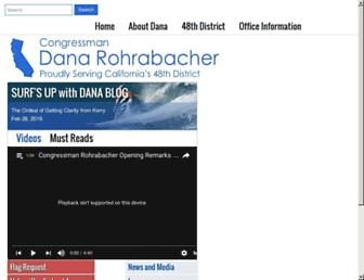 Main page screenshot of rohrabacher.house.gov