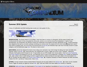 chronocompendium.com screenshot