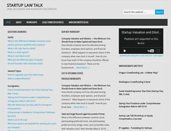startuplawtalk.com screenshot