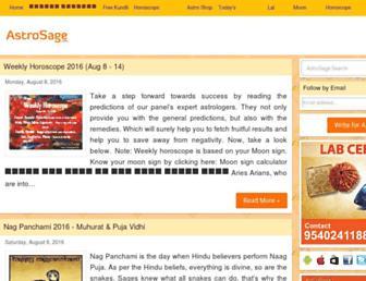 astrology.astrosage.com screenshot
