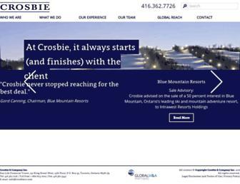 crosbieco.com screenshot