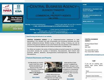 centralbusinessagency.com screenshot