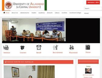 allduniv.ac.in screenshot