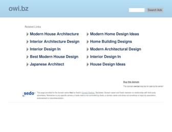 Main page screenshot of owi.bz