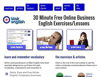 blairenglish.com screenshot