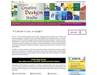 Main page screenshot of brochure-designing.net