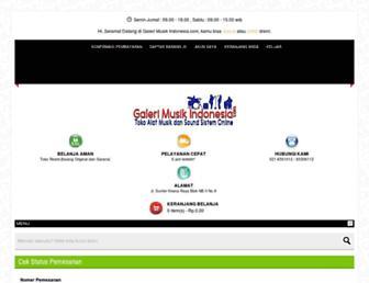 galerimusikindonesia.com screenshot