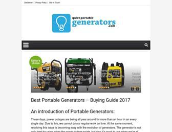 quietportablegenerators.com screenshot