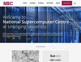 nsc.liu.se screenshot