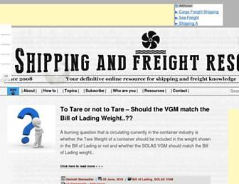 shippingandfreightresource.com screenshot