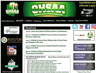 ohsaa.org screenshot
