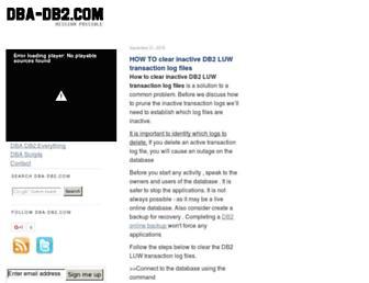 dba-db2.com screenshot