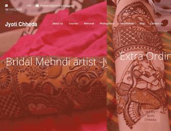 mehendiartistjyoti.com screenshot