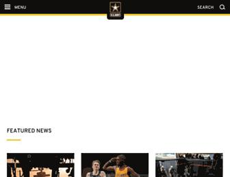 Main page screenshot of army.mil