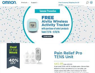omronhealthcare.com screenshot