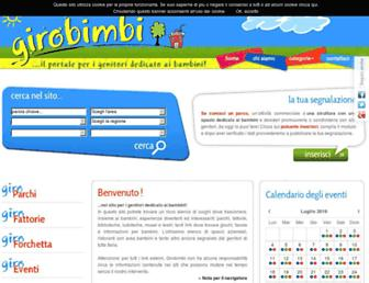 Main page screenshot of girobimbi.it