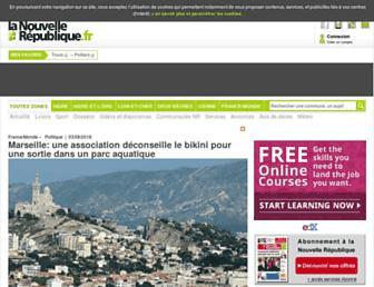 Main page screenshot of lanouvellerepublique.fr