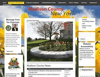 madisoncounty.ny.gov screenshot