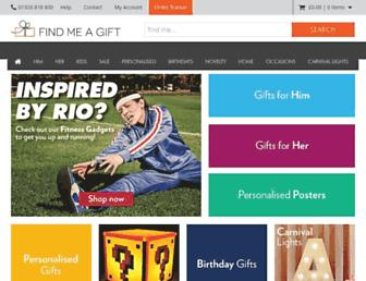 Main page screenshot of find-me-a-gift.co.uk