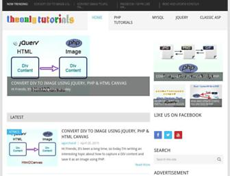 theonlytutorials.com screenshot