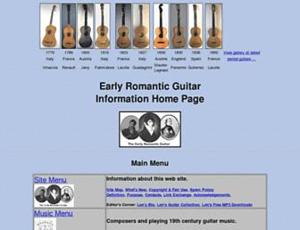 earlyromanticguitar.com screenshot