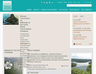 ramsar.org screenshot