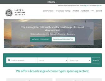 lloydsmaritimeacademy.com screenshot