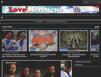 ilovemerengue.com screenshot