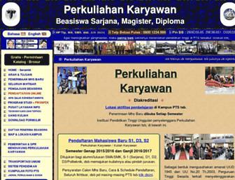 p2k.la.web.id screenshot