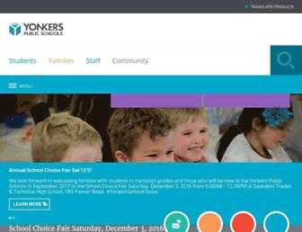 yonkerspublicschools.org screenshot