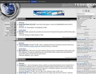 Main page screenshot of qr.cz