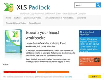 xlspadlock.com screenshot