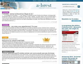 Main page screenshot of a-brest.net