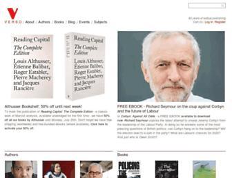 versobooks.com screenshot