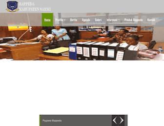 Main page screenshot of sarmikab.go.id