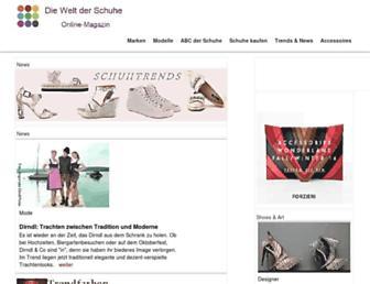 Main page screenshot of die-welt-der-schuhe.de