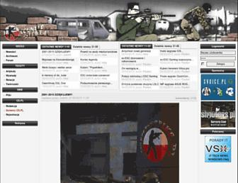 Main page screenshot of counter-strike.pl