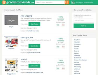 greenpromocode.com screenshot