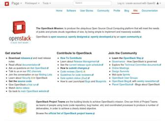 wiki.openstack.org screenshot