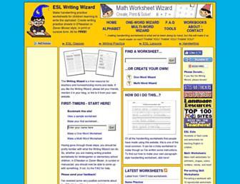 writingwizard.longcountdown.com screenshot