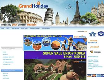 grandholiday.co.id screenshot