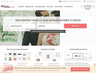 bodas.com.mx screenshot