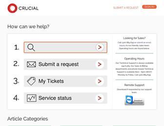 help.crucial.com.au screenshot