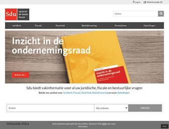 Main page screenshot of sdu.nl