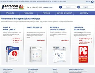 paragon-software.com screenshot